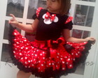 Conjunto Minnie vermelho  frufru luxo