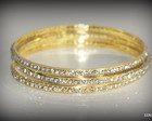 KIT PULSEIRA DE METAL STRASS DOURADO