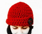 Gorro com Boto Vermelho PRONTA ENTREGA