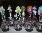 BALEIRO ENFEITES DE MESA MONSTER HIGH