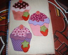 Capa para Caderno Cupcake