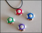 Pingentes Cogumelos Super Mario