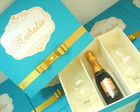Caixa Padrinhos Baby Chandon Tiffany