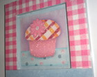 Porta- chaves Cupcake Rosa Floc