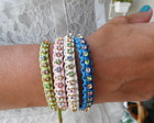 P1868 - Pulseira Macram Strass Colors