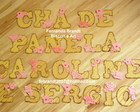 letras decoradas cha de panela