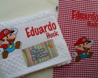 Kit Coord SUPER Mario guardnapo e lavabo