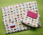 Case Para Notebook + Estojo  - Cupcakes