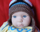 Gorro bebe aviador