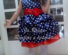 Vestido babados galinha pintadinha