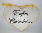 Placa Corao Enfim Casados