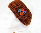 Headband Faixa Croche Chocolate Botes