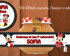 "Kit R�tulo Papinha ""Mickey e Minnie"""