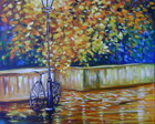 PINTURA EM TELA PAISAGEM 70x90 cod 566