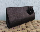 Clutch Preta Cetim Amassado