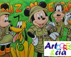 Painel Mickey Safari