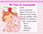 Kit Festa moranguinho baby