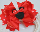 La�o de boutique Minnie Pink ou vermelha