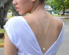 BACK NECKLACE ROMANTIC PEARL
