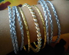 Kit Pulseiras Prateadas