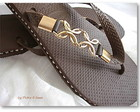 Havaiana Flowers in Gold