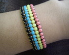 Mix de pulseiras stras flexiveis cores