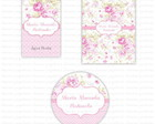 Kit digital Floral - Rosa e branco