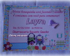 Convite Boneca  colorido Com Envelope
