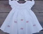 Vestido Ponto Smock Br/Rs Fusto Piquet