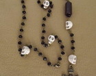 Necklace Skull Rosary Black II