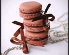 Colar Macaron De Framboesa