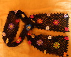 Echarpe em croche com flores