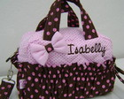 BOLSA P MARROM E ROSA PERSONALIZADA