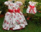 VESTIDO FLORAL VERMELHO