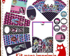 Kit para imprimir - Monster High
