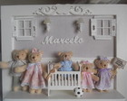 Porta Maternidade Familia Urso C/luz