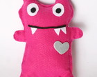 Boneco em feltro Monster - rosa