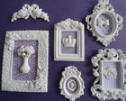 KIT 5 QUADROS ESTILO PROVENAL LILS