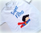 Camiseta Ou Body - Super Filho