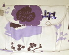 Clutch Com Chatons - purple floral