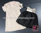 Vestido Me e Filha Marfim e Preto