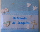 lbum Scrap Batizado Menino