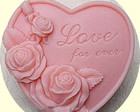 MOLDE SIL. CORA��O ROSAS LOVE FOR EVER