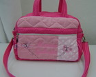 BOLSA M ROSA E PINK BORBOLETAS