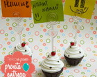 Porta Recado Cupcake  - pronta entrega
