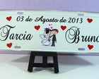 Placa Personalizada Adesivada