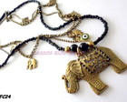 Colar ouro velho com elefante...