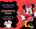 Convite Digital Minnie Mouse