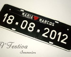 Placa Personalizada Preto branco