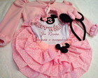 Conjunto minnie rosa + bolero